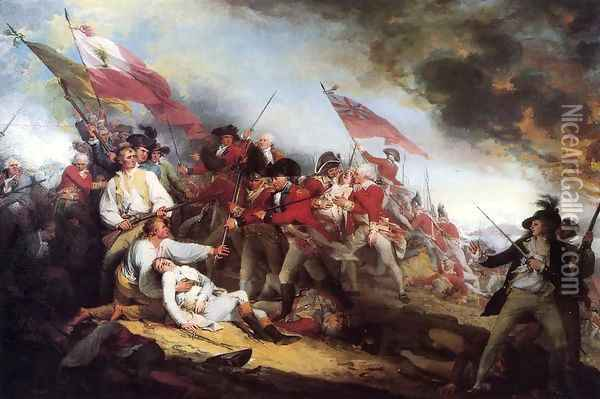 The Death of General Warren at the Battle of Bunker Hill on 17 June 1775, 1786 Oil Painting - John Trumbull