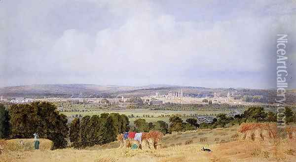 Oxford from Hinksey Hill Oil Painting - William Turner