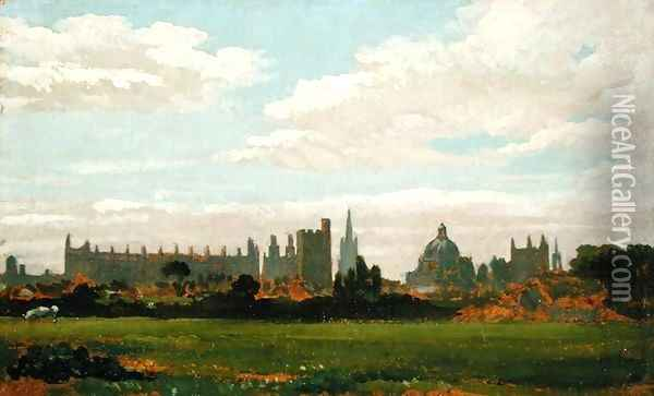 A View of Oxford Oil Painting - William Turner