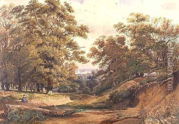 A Scene in Bagley Wood near Oxford Oil Painting - William Turner