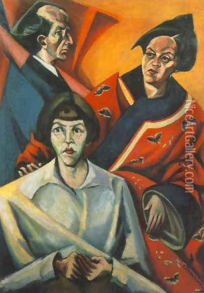Working Class Family 1921 Oil Painting - Lajos Tihanyi