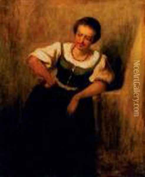 Girl Oil Painting - Mihaly Munkacsy