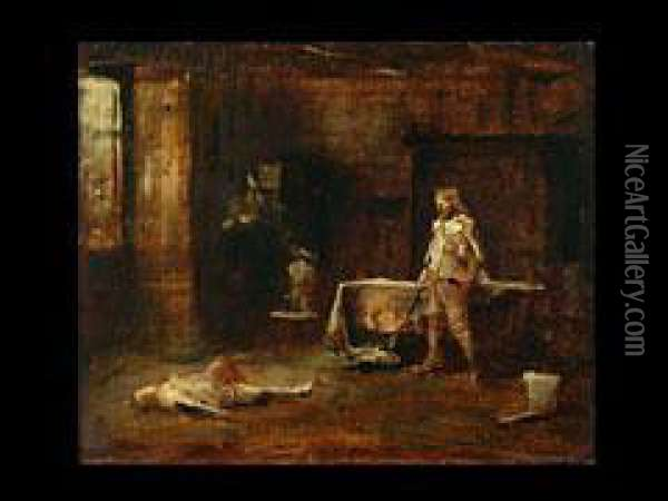 Das Duell Oil Painting - Mihaly Munkacsy