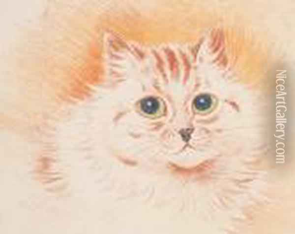 In The Pink Oil Painting - Louis William Wain