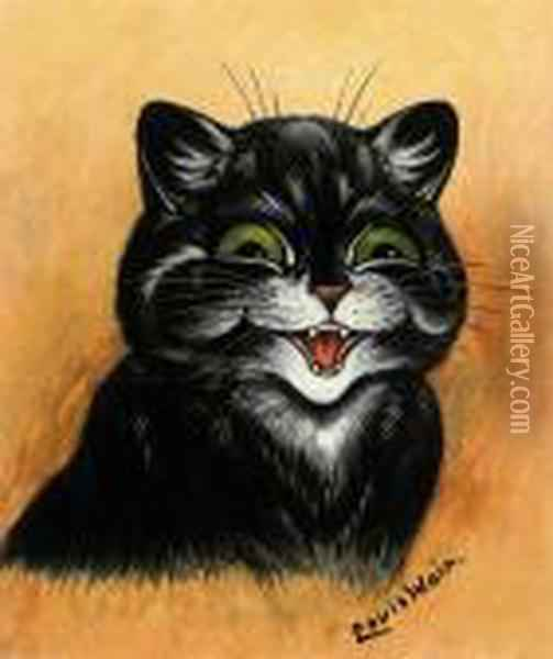 The Contented Cat Oil Painting - Louis William Wain