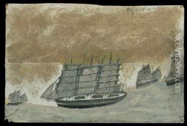 Full-rigged Ship Oil Painting - Alfred Wallis