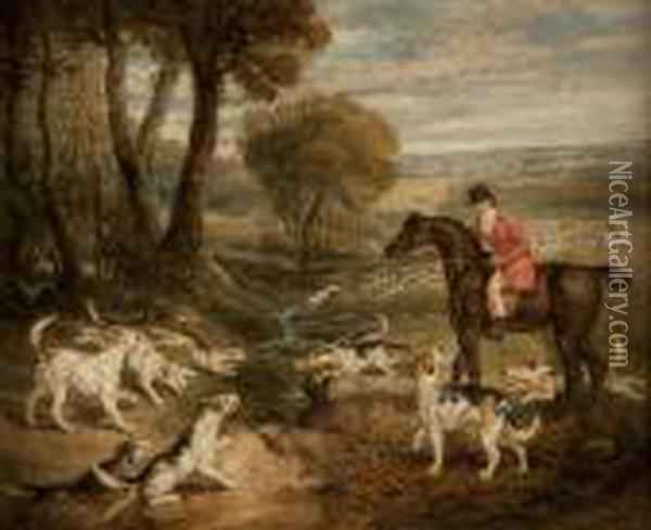 The Chase Oil Painting - James Ward