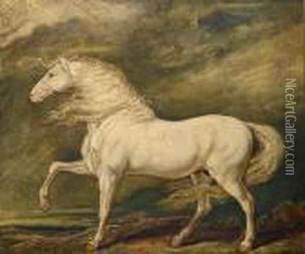 Adonis, The Favourite Charger Of King George Iii Oil Painting - James Ward