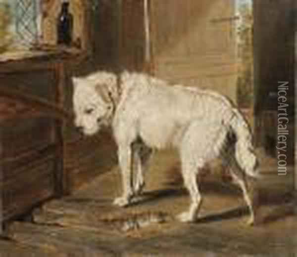The Ratter Oil Painting - James Ward