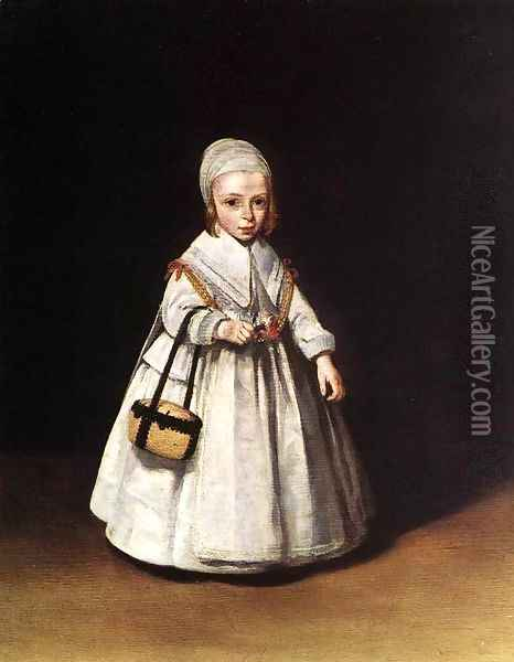 Helena van der Schalcke as a Child Oil Painting - Gerard Terborch