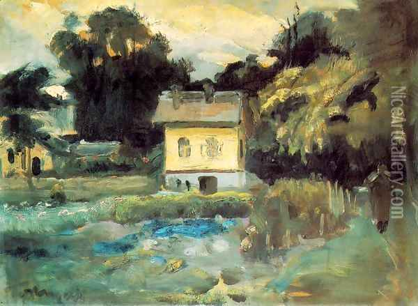 View at Szentendre 1933 Oil Painting - Janos Tornyai