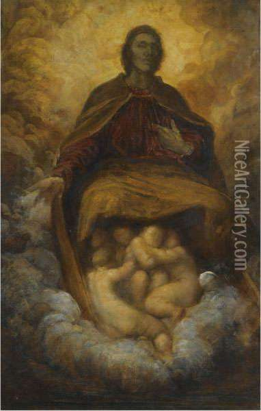 The Spirit Of Christianity Oil Painting - George Frederick Watts
