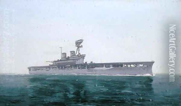 HMS Eagle, 1922 Oil Painting - Duff Tollemache