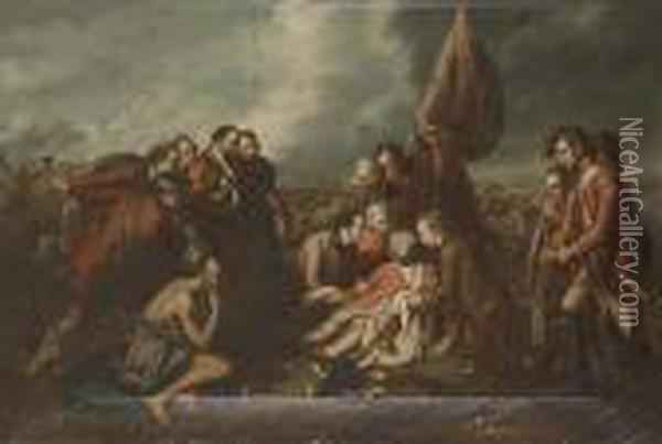 The Death Of Wolfe Oil Painting - Benjamin West