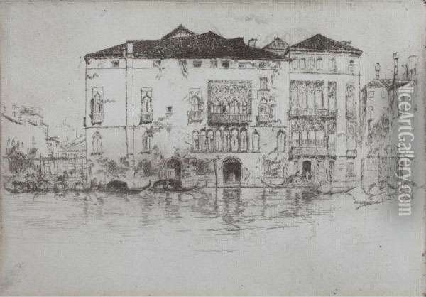 The Palaces Oil Painting - James Abbott McNeill Whistler