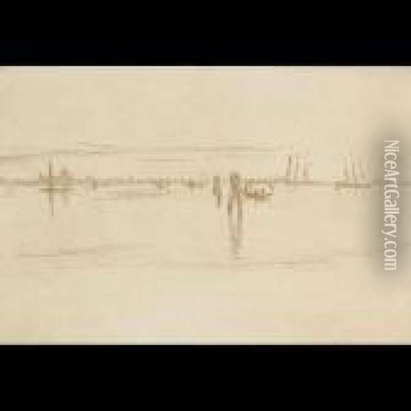 Long Lagoon (from The Second Venice Set) [kennedy 203] Oil Painting - James Abbott McNeill Whistler