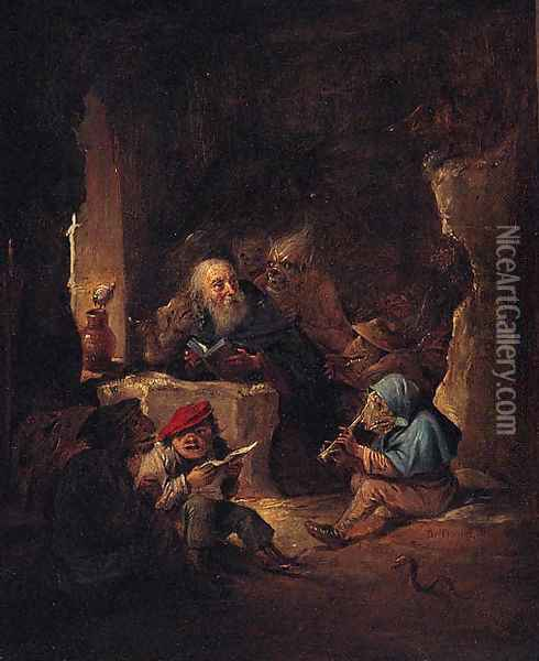 The Temptation of Saint Anthony 5 Oil Painting - David The Younger Teniers