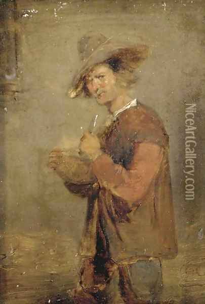 A peasant in an interior Oil Painting - David The Younger Teniers