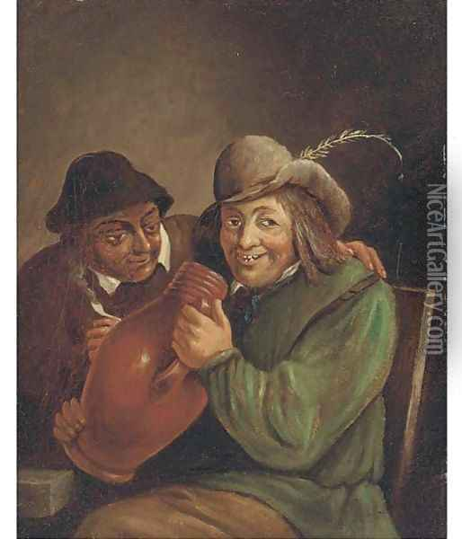 Peasants smoking and drinking in a tavern 5 Oil Painting - David The Younger Teniers