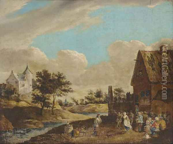 A village kermesse Oil Painting - David The Younger Teniers