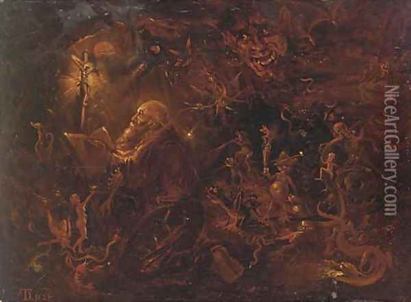The Temptation of Saint Anthony 4 Oil Painting - David The Younger Teniers