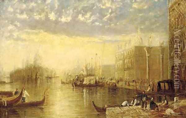 The entrance to the Grand Canal, Venice Oil Painting - Joseph Mallord William Turner