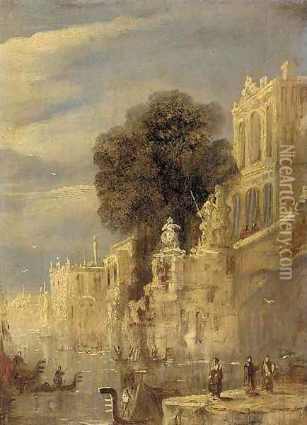 Palazzos on a Venetian backwater Oil Painting - Joseph Mallord William Turner