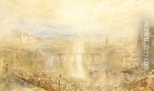 Zurich Fete, early morning Oil Painting - Joseph Mallord William Turner