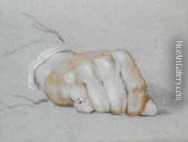 Study Of A Gentleman's Right Hand Oil Painting - Sir David Wilkie