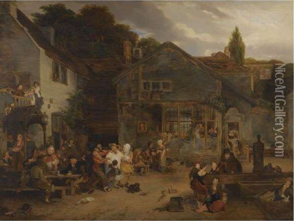 The Tavern Oil Painting - Sir David Wilkie