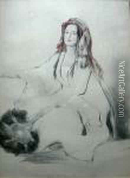 Mrs Moore, Wife Of The British Consul Oil Painting - Sir David Wilkie