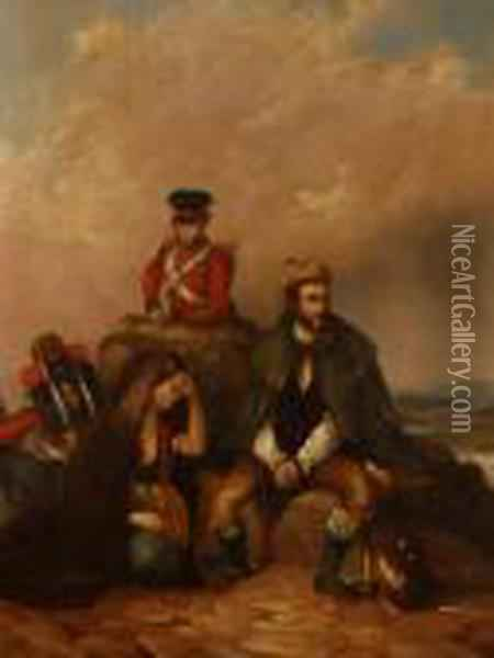 Soldiers Guarding A Handcuff Prisoner Oil Painting - Sir David Wilkie
