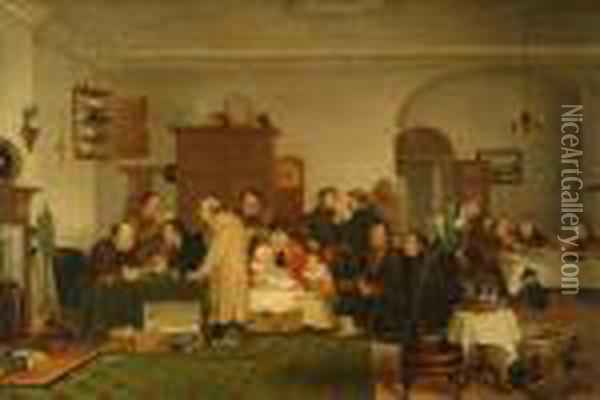 The Rent Day Oil Painting - Sir David Wilkie