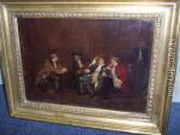 The Talk Of The Town Oil Painting - Sir David Wilkie