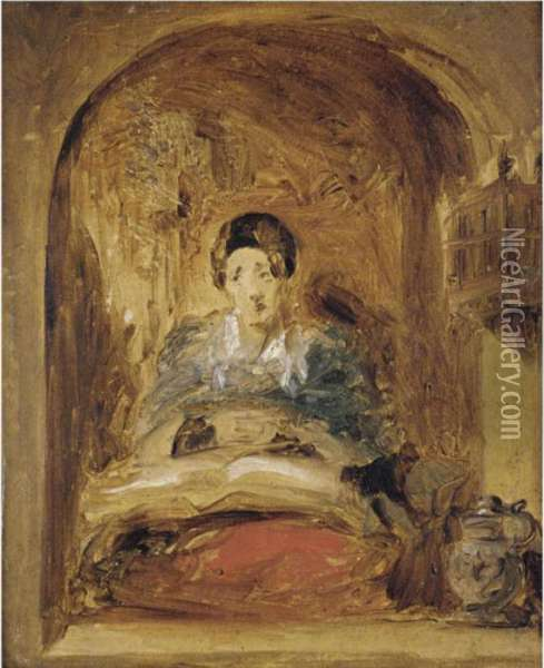Sketch Of A Woman At The Window Oil Painting - Sir David Wilkie