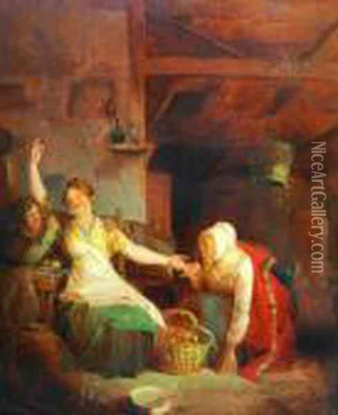 You Will Be Married Oil Painting - Sir David Wilkie