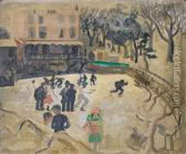 Skating At Hampstead Oil Painting - Christopher Wood