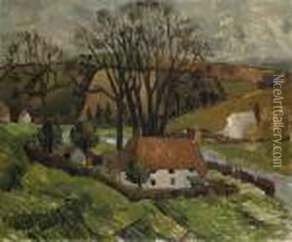 Cottage At Broadchalke, Wiltshire Oil Painting - Christopher Wood