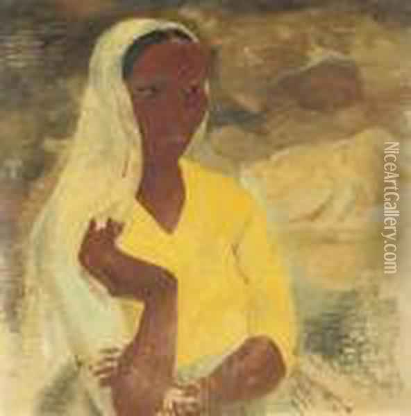 Woman Of Algiers Oil Painting - Christopher Wood