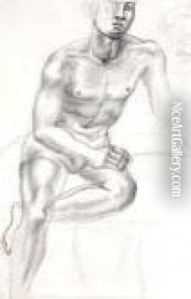 Male Nude Oil Painting - Christopher Wood
