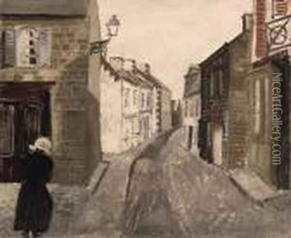 Street In Trboul Oil Painting - Christopher Wood