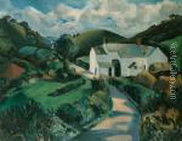 The White Farm Oil Painting - Christopher Wood