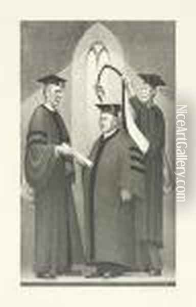 Honorary Degree. Oil Painting - Grant Wood