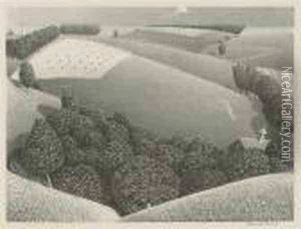 July Fifteenth (c. 5) Oil Painting - Grant Wood