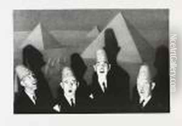 Shrine Quartet Oil Painting - Grant Wood