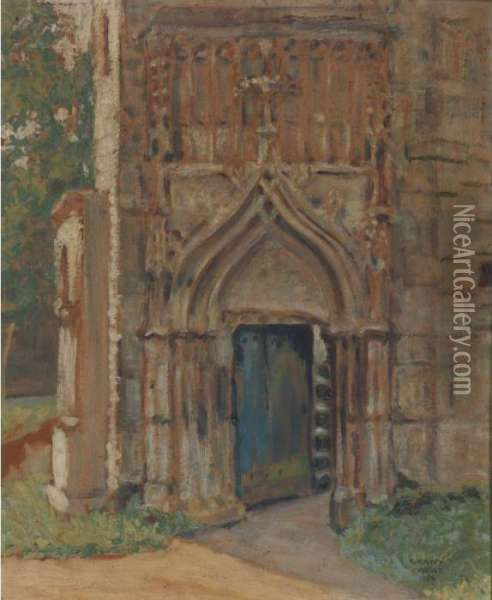 Door To Old Chateau, Perigneux Oil Painting - Grant Wood