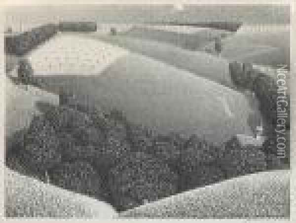 July Fifteenth Oil Painting - Grant Wood