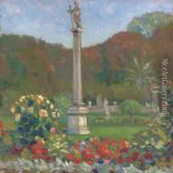 Saint Anthony, Luxembourg Gardens, Paris Oil Painting - Grant Wood