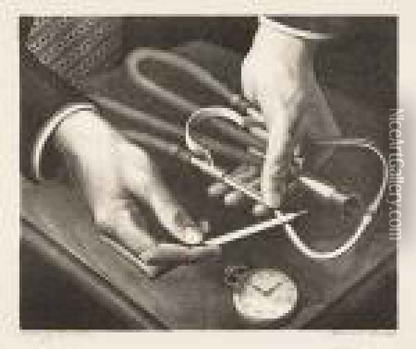 Family Doctor<</b> Oil Painting - Grant Wood