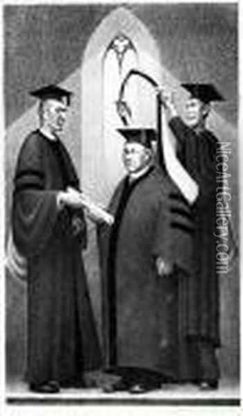 Honorary Degree Oil Painting - Grant Wood